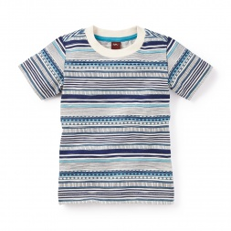 Divyen Striped Tee | Tea Collection