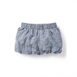 Chambray Baby Bubble Shorts | Tea Collection