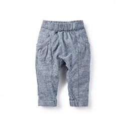 Chambray Baby Pants for Girls | Tea Collection