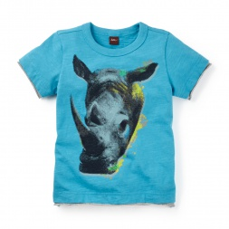 Assam Rhino Photo Tee | Tea Collection