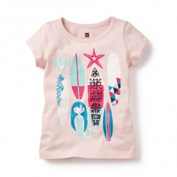 Pink Gulika Surf Graphic Tee for Girls | Tea Collection