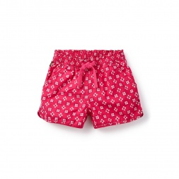 Green Bandhani Check Shorts for Little Girls | Tea Collection