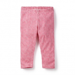 Little Girls Pink Trikona Capri Leggings | Tea Collection