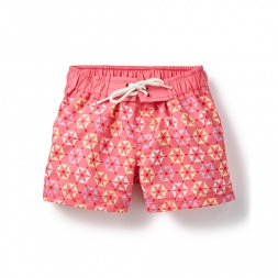 Pink Rashmi Board Shorts for Little Girls | Tea Collection