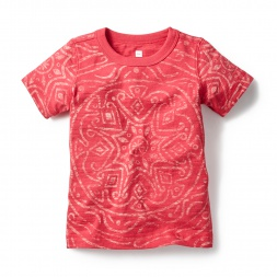 Red & Pink Sahas Mandala Print Tee Shirt for Boys | Tea Collection