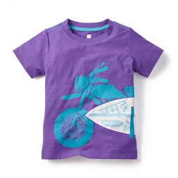 Purple MotoSurf Graphic Tee for Little Boys | Tea Collection