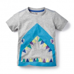 Grey Shark Bite Graphic Tee for Boys | Tea Collection