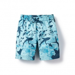 Blue Celestial Sea Board Shorts for Boys | Tea Collection