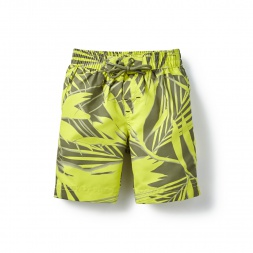 Yellow Sunprint Palms Board Shorts for Little Boys | Tea Collection