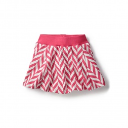 Pink Coastal Chevron Twirl Skort for Girls | Tea Collection