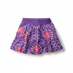Purple Bandhani Twirl Skort for Little Girls | Tea Collection