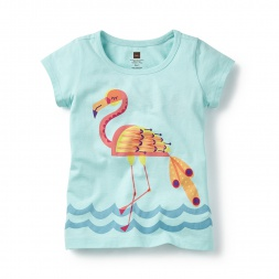 Blue Marala Flamingo Graphic Tee Shirt for Girls | Tea Collection