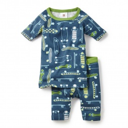 Green Skate Dreams Pajamas for Boys | Tea Collection