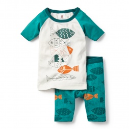 Fish School Pajamas for Little Boys | Tea Collection
