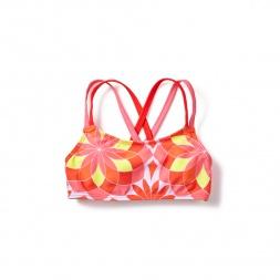 Pink Floral Anshula Bikini Top for Girls | Tea Collection