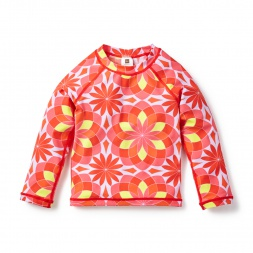 Pink Anshula Long Sleeve Rash Guard for Little Girls | Tea Collection