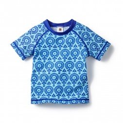 Blue Firoza Rash Guard for Girls | Tea Collection