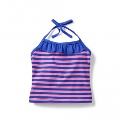 Purple Ziana Ruffle Tankini Top for Little Girls | Tea Collection