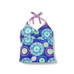 Blue Floral Atasi Tankini Top for Girls | Tea Collection