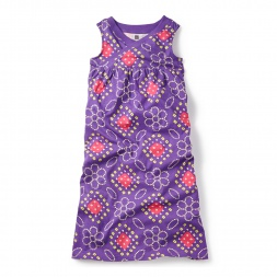 Purple Bandhani Wrap Neck Maxi Dress for Girls | Tea Collection