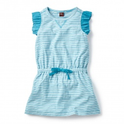 Blue Prachi Stripe Sporty Dress for Girls | Tea Collection