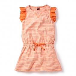 Blue Prachi Stripe Sporty Dress for Girls | Tea Collection