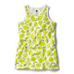 Yellow Ikshu Lemons Nightgown for Little Girls | Tea Collection