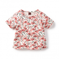 Flamingo Festival Raglan Tee Shirt for Girls | Tea Collection