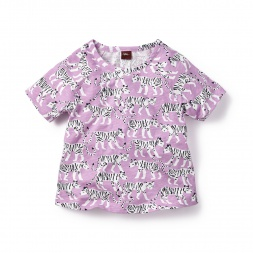 Purple Royal Bengal Raglan Tee for Little Girls | Tea Collection