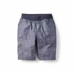 Chambray Patch Pocket Shorts for Little Boys | Tea Collection