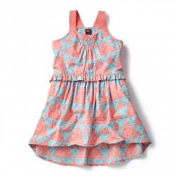 Pink Anokhi Racerback Dress for Little Girls | Tea Collection