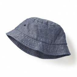 Gray Chambray Bucket Hat for Little Girls | Tea Collection