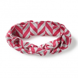 Pink Little Girl Coastal Chevron Headwrap | Tea Collection
