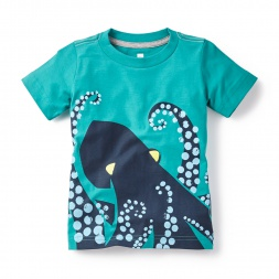 Green Tentacles Graphic Tee Shirt for Boys | Tea Collection