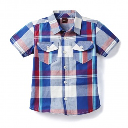 Brahma Plaid Beach Shirt for Little Boys | Tea Collection