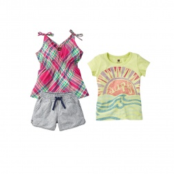 Surf and Sun Set Little Girl Outfit | Tea Collection