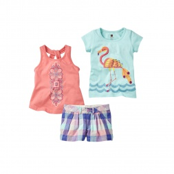 Marala Flamingo Set Outfit for Girls | Tea Collection