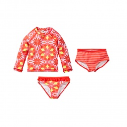 Anshula Swim Set Cute Outfit for Girls | Tea Collection