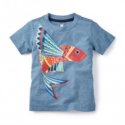 Gray Kite Fish Graphic Tee for Boys | Tea Collection