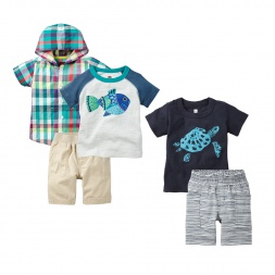 Fishing for Compliments Set Outfit for Babies | Tea Collection