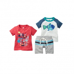Baby Blowfish Set Cute Baby Boy Outfits | Tea Collection