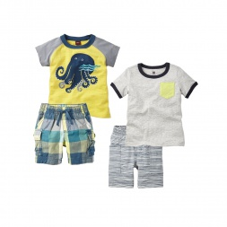 Octopus Surf Set Outfit for Baby Boys | Tea Collection