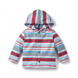 Manori Striped Snap Hoodie for Baby Boys   Tea Collection