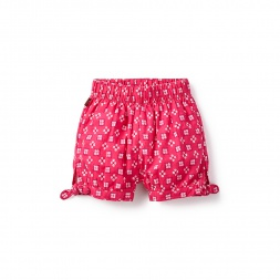 Pink Bandhani Check Baby Shorts for Girls | Tea Collection
