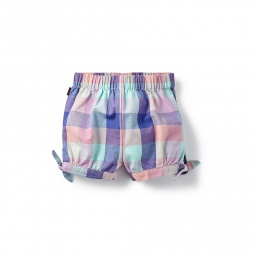 Plaid Bhopal Baby Shorts for Girls | Tea Collection