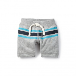 Striped French Terry Baby Shorts for Boys | Tea Collection