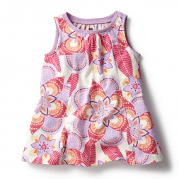 Pink Kalinda Baby Trapeze Dress for Baby Girls | Tea Collection