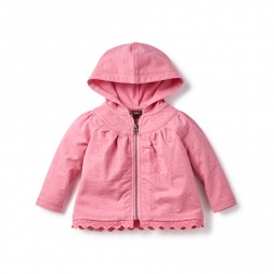 Pink Indrani French Terry Hoodie for Baby Girls | Tea Collection