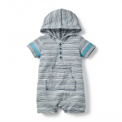 Gray Alwars Hoodie Romper for Babies | Tea Collection