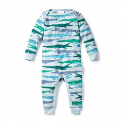 Crocodilian Baby Pajamas for Baby Boys | Tea Collection